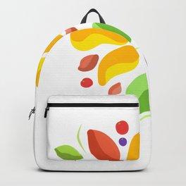 Tropical flower Andr fruits Backpack