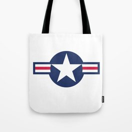US Airforce style roundel star - High Quality image Tote Bag