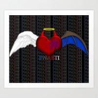 Balanced Heart Art Print