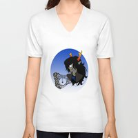 homestuck V-neck T-shirts featuring Spider's Apology by Alice Everyday
