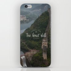 A different view of The Great Wall of China iPhone Skin