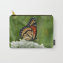 Viceroy Butterfly on Queen Anne's Lace Carry-All Pouch