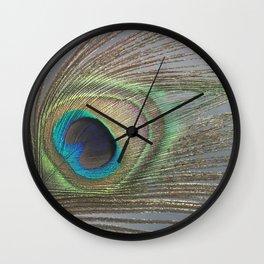 Peacock Feather No.1 | Feathers | Nadia Bonello | Ottawa | Canada Wall Clock
