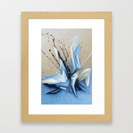 Cold Explosion Framed Art Print