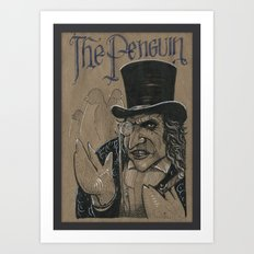 The Penguin (DRAWLLOWEEN 27/31) Art Print
