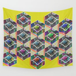 Tribal Octagon Vibes Textured Home Goods Urban Pattern Wall Tapestry