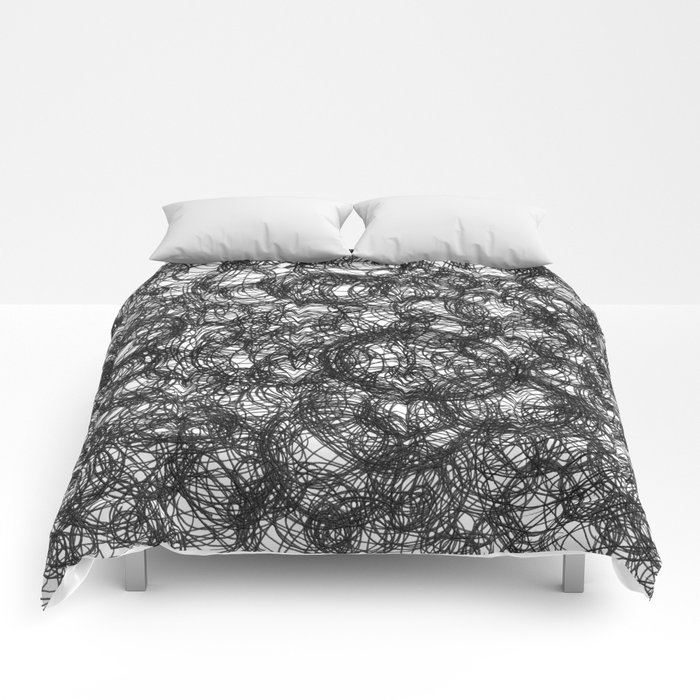 Black Ink on White Comforters