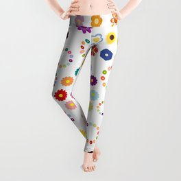 Many Flowers Leggings