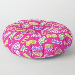 Good vibez / Red Floor Pillow