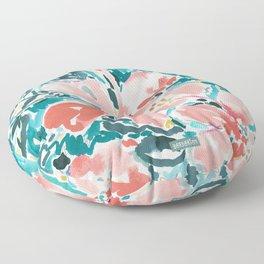 HELLO HIBISCUS - CORAL Floor Pillow