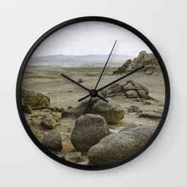 Somewhere in the Gobi Desert Wall Clock
