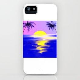 Tropical sunset design iPhone Case