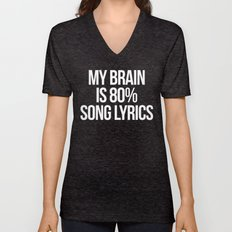 Song Lyrics Funny Quote Unisex V-Neck