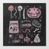 loll3 Canvas Prints featuring Trick 'r Treat by lOll3