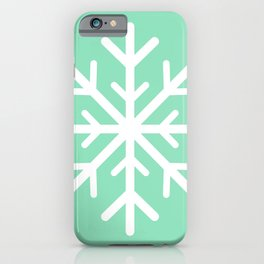 Snowflake (White & Mint) iPhone Case
