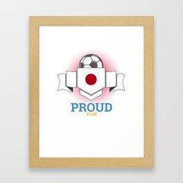 Football Japanese Japan Soccer Team Sports Footballer Goalie Rugby Gift Framed Art Print