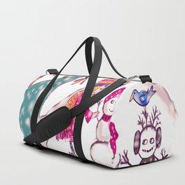Merry Christmas Snowgirl Duffle Bag