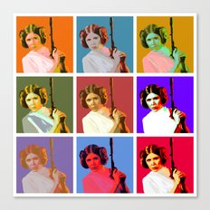 Popart Leia from Star Wars Episode 4 Canvas Print