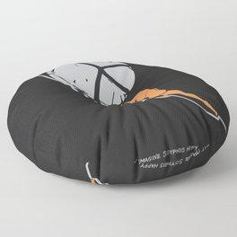 One Must Imagine Sisyphus Happy - Illustration - Albert Camus Quote Floor Pillow