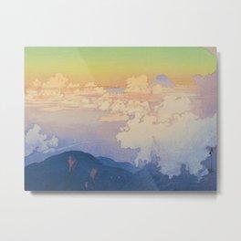 Above the Clouds (Un-Hyo)  Vintage Beautiful Japanese Woodblock Print Hiroshi Yoshida Metal Print