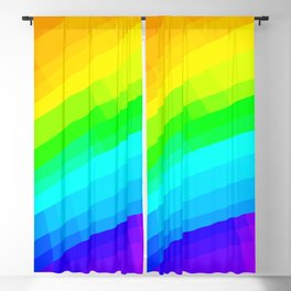 Crisscross Rainbow Design Blackout Curtain