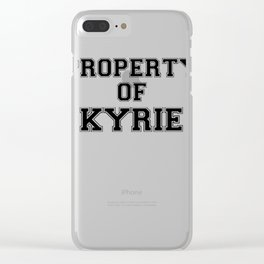 Property of KYRIE Clear iPhone Case