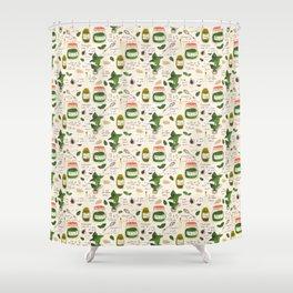 Pesto. Illustrated Recipe. Shower Curtain