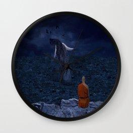La preciosa mente de un monje - The beautiful mind of a monk Wall Clock
