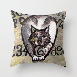 Kitty Planchette Throw Pillow