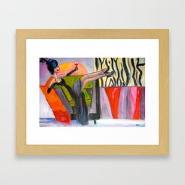 Kickin' Back Framed Art Print