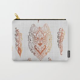Seamless pattern with wolf and feathers Carry-All Pouch