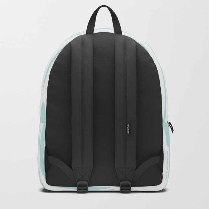 Bamboo Stripe White on Succulent Blue Backpack