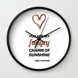 Cupid Me Valentine's Day Fudgey Charm Of Sunshine Wall Clock