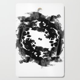 Enso black and white minimal watercolor japanese abstract painting zen art Cutting Board