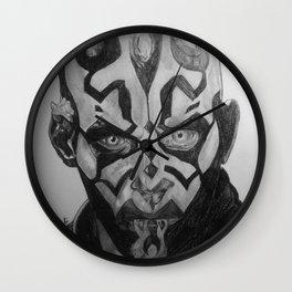 Darth Maul Portrait Pencil Wall Clock