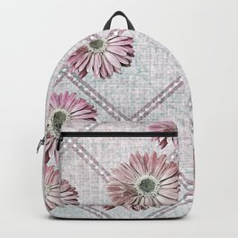 retro pink daisies Backpack