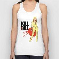 kill bill Tank Tops featuring Kill Vampire Bill by AriesNamarie
