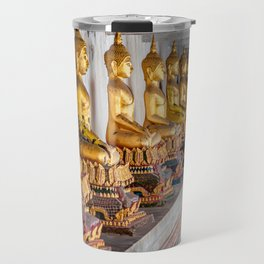 Golden Buddhas Travel Mug