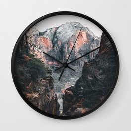 through the walls of zion Wall Clock