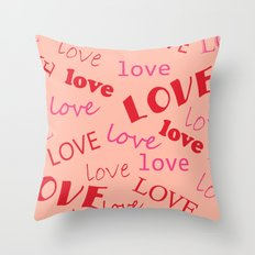 Valentine love 1 Throw Pillow