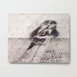 Darth Vader Crosswalk Stencil Metal Print