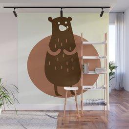 Funny Bear Wall Mural