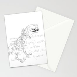 T Rex Stationery Cards
