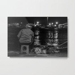 Fisherman in the night Metal Print