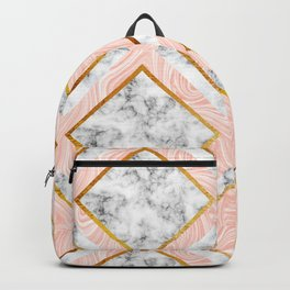 Gold and marble Backpack
