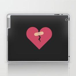 broken heart healed by patch Laptop & iPad Skin