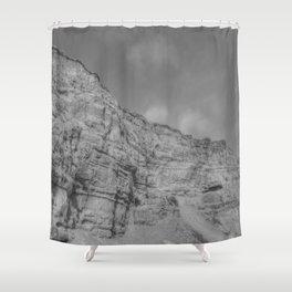 Eroding Graffiti Cliff Shower Curtain