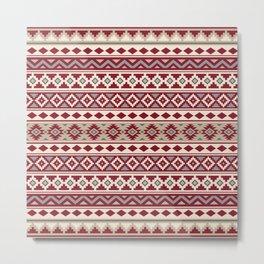 Aztec Essence IIb Ptn Red Crm Grays Sand Metal Print