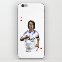 real madrid iPhone & iPod Skins featuring Raul Madrid by Dano77