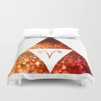 aries Duvet Covers featuring Aries by haroulita